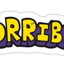 cartoon word horrible Sticker