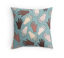 Nail Expert Studio - Colorful Manicured Hands Pattern Throw Pillow