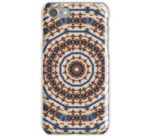 Kaleidoscope Brown Beige and Blue Circle Pattern iPhone Case/Skin