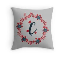 Scandinavian Monogram C Throw Pillow