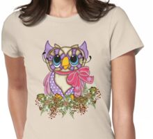 The Owl and the Holly Womens Fitted T-Shirt