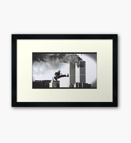 Karate towers Framed Print