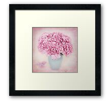 A beautiful bouquet of mauve Carnations Framed Print