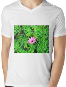 one purple flower Mens V-Neck T-Shirt