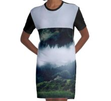 the forrest Graphic T-Shirt Dress