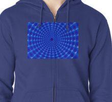Blue  galactic web !! Zipped Hoodie