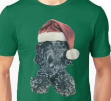 Cockapoo in a Christmas Santa Hat (Green) Unisex T-Shirt