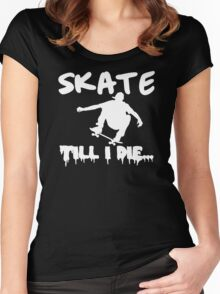 Skate Men Stencil Women's Fitted Scoop T-Shirt