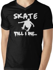 Skate Men Stencil Mens V-Neck T-Shirt
