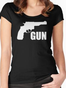 Gun Gun Fun Women's Fitted Scoop T-Shirt