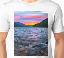 Lake Revelstoke sunset  Unisex T-Shirt