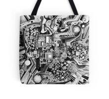 Distortion Sympathy - Watercolor Painting B&W Tote Bag