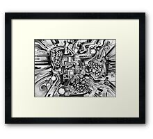 Distortion Sympathy - Watercolor Painting B&W Framed Print