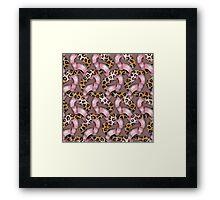 Leopards'n Lace - Pink Framed Print