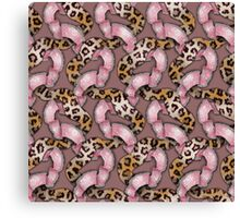 Leopards'n Lace - Pink Canvas Print