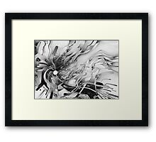 Axion of Evil - Watercolor Painting B&W Framed Print