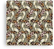 Leopards'n Lace - Yellow Canvas Print