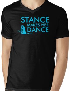 Racer Dance Mens V-Neck T-Shirt