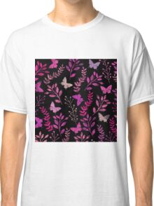 Watercolor Floral and Butterfly  Classic T-Shirt