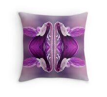 MICRO WORLD VIOLETS Throw Pillow