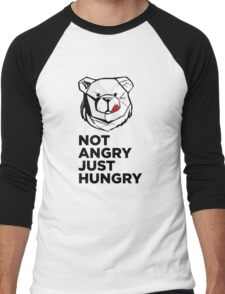 ROBUST Not angry just hungry Men's Baseball ¾ T-Shirt