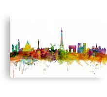 Paris France Skyline Cityscape Canvas Print