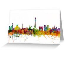 Paris France Skyline Cityscape Greeting Card
