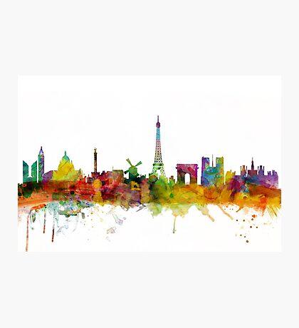Paris France Skyline Cityscape Photographic Print