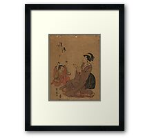 A modern allegory of the Chinese sage Zhang Guo lao - Toyohiro Utagawa - 1795 Framed Print