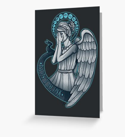 Peek a boo, Angel Greeting Card