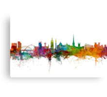 Newcastle England Skyline Canvas Print