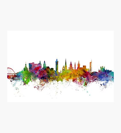 Glasgow Scotland Skyline Photographic Print