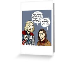 Probably Just Loki  Greeting Card