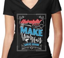 Hairstylist Special Shirt 2017 Women's Fitted V-Neck T-Shirt
