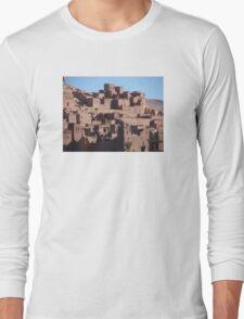 Morocco, a very old Sahara Desert Village Scene Long Sleeve T-Shirt