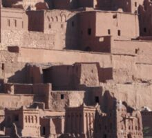 Morocco, a very old Sahara Desert Village Scene Sticker