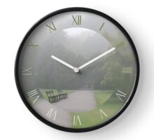 Walking in gloomy autumn fog Clock