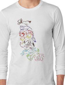 Tribal Eeveeloutions swirl Long Sleeve T-Shirt