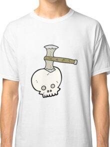 cartoon axe in skull Classic T-Shirt