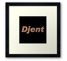 Cool Rusty Djent Framed Print