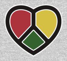 Rasta Heart. Big heart design. by TotalPotencia