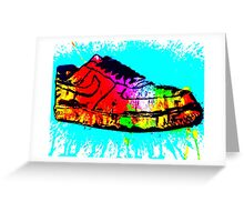 NIKE AIRFORCE 1 ABSTRACT SPLASH Greeting Card