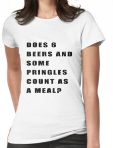 Does 6 beers and some Pringles count as a meal? Womens Fitted T-Shirt