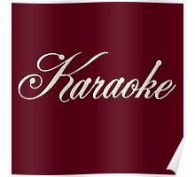 Classic  Karaoke White Poster