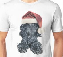 Cockapoo in a Christmas Santa Hat (White) Unisex T-Shirt