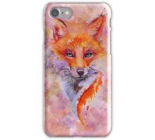 Watercolor colorful Fox iPhone Case/Skin