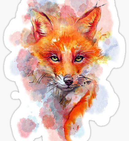 Watercolor colorful Fox Sticker
