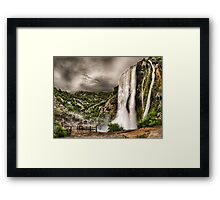 Beautifull Waterfall landscape Framed Print