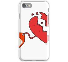 cartoon luggage tag on broken heart iPhone Case/Skin