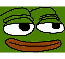 The Smuggest Pepe Photographic Print